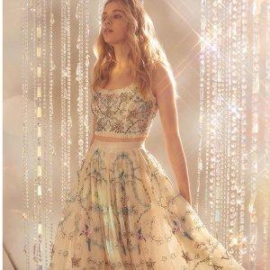 新品7折 蓝色碎花裙€210NEEDLE & THREAD 英国伦敦重磅仙女裙 精致手工制作超仙儿