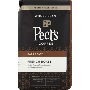 $9.2Peet's Coffee French Roast Dark Roast Whole Bean Coffee, 20 Ounce