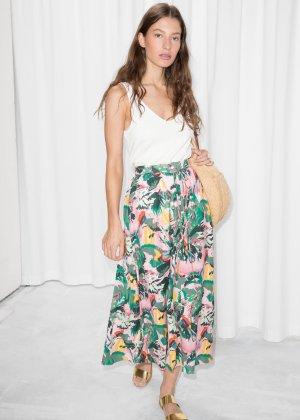 Tropical Print Midi Skirt - Tropical Print - Maxi skirts - & Other Stories
