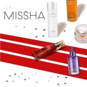 低至4折+额外8折+抽奖最后一天:Missha 独立日大促 收第5代精华肌底水、小紫瓶