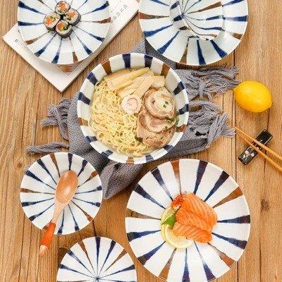 蓝十草餐具6件套 日本制造 美仓发货