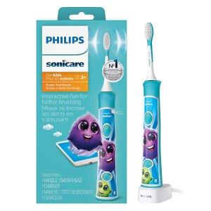 $44.99 (原价$59.99)Philips 飞利浦儿童声波震动牙刷 轻松养成刷牙习惯