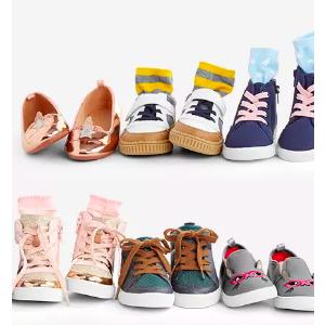 全场包邮 今年最低价 有0-14岁儿童码黑五价:OshKosh BGosh  新款童鞋新低价 一律5折+无门槛7.5折