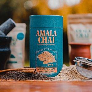 独家8.5折 满£50享8折12周年独家:AMALA CHAI 伦敦高级手工香料茶叶 阿萨姆奶茶专用茶底