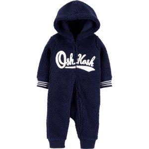 Oshkosh男婴、幼童绒绒连体服