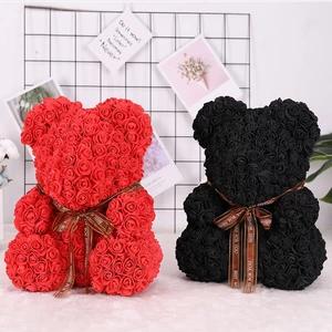 低至6.8折 25cm/40cm两种尺寸可选网红手工玫瑰花Teddy Bear超好价 多色可选送礼满分