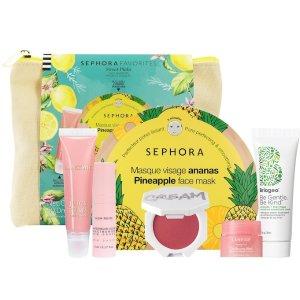 $30 价值$61 可叠加自提9折上新:Sephora Favorites 甜蜜夏日礼盒 护肤精选 果味一夏
