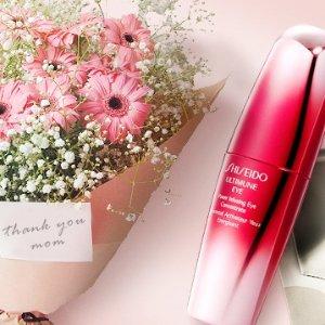 买任一指定单品 送超值套装母亲节促销:Shiseido 精选10款护肤品 买一送一
