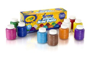 $4Crayola Washable Kids' Paint, Assorted Colors 10 ea
