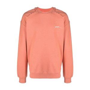 Ader ErrorSale Ader Error Kaput embroidered-logo cotton sweatshirt pink   MODES
