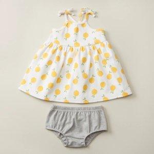 3M-6M柠檬连衣裙2件套