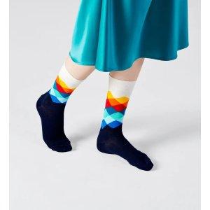 Happy Socks彩虹菱纹袜