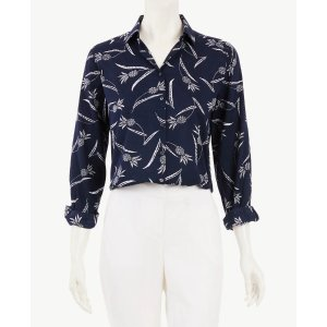 Ann TaylorBuy 1 Get 2 FreePineapple Roll Sleeve Button Down Shirt