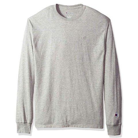 $13.49(原价$25)Champion Jersey 男子休闲运动长袖T恤 多色可选