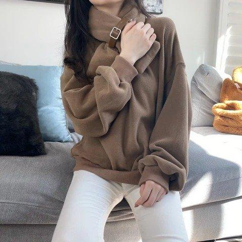 卫衣+可爱围巾2件套