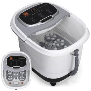 Portable Heated Foot Bath Spa w/ Massage Rollers