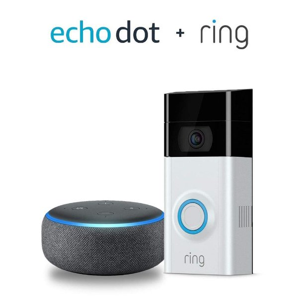 Ring Video Doorbell 2 智能门铃 + Echo Dot 3代 套装