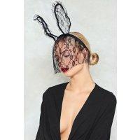 Nasty Gal 兔耳朵蕾丝面罩