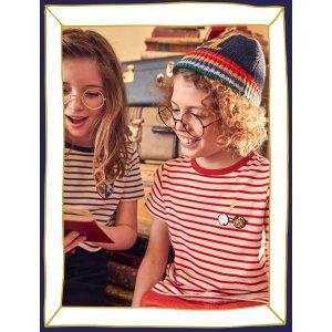 Boden儿童Hogwarts Breton 条纹T恤