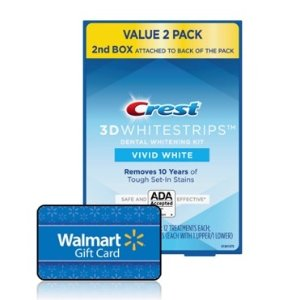 $39.97 + 免费$10礼卡Crest Vivid 3D 美白牙贴 48片