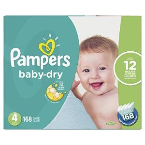PampersDiapers Size 4 - Pampers Baby Dry 纸尿裤