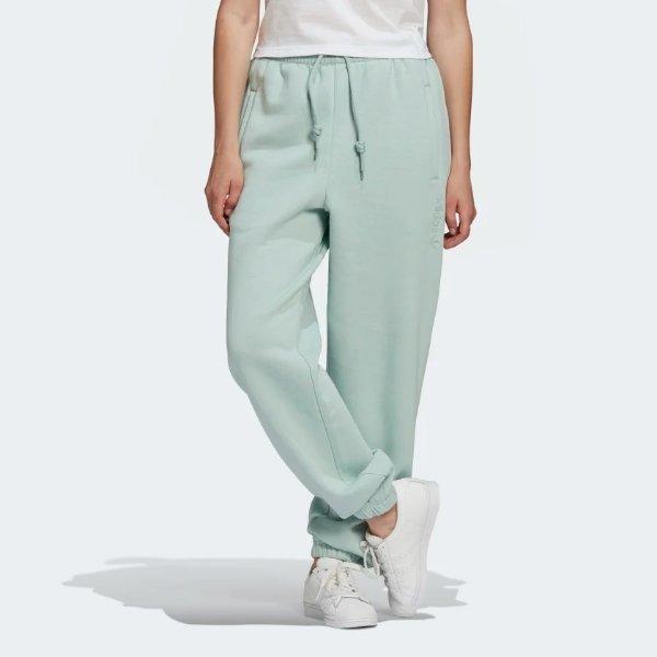 Cuffed 女士薄荷绿休闲裤