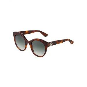 GucciOversized Round Acetate Sunglasses