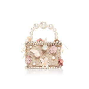 RosanticaHolli Fresia Embellished Gold-Tone Top Handle Bag