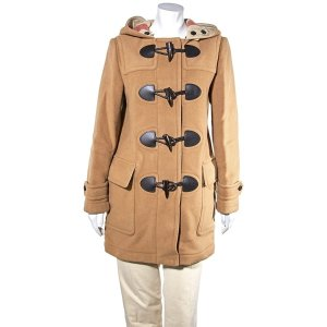 BurberryLadies Coat Camel Kensington Fit Duffle