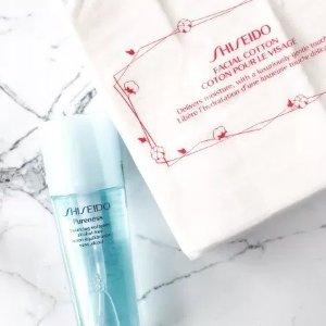 20% off+Free GiftFacial Cotton @ Shiseido