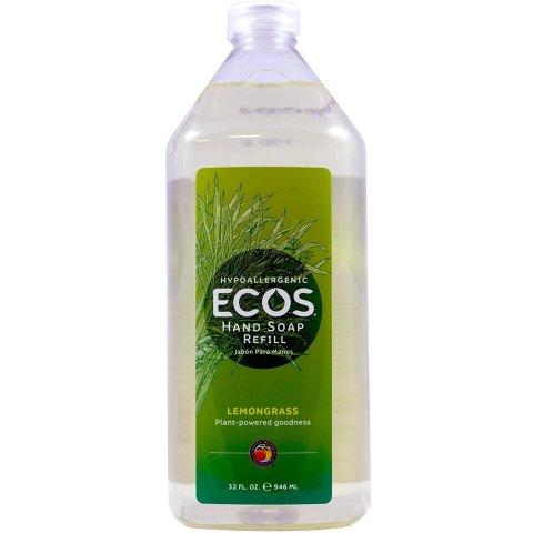 ECOS Hand Soap Refill, Lemongrass, 32 Ounce