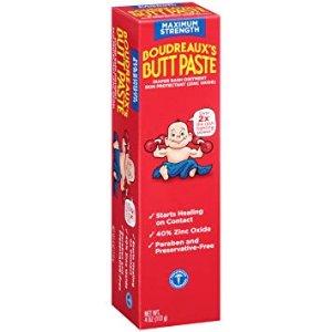 As low as $4.35Boudreaux's Butt Paste Diaper Rash Ointment   Maximum Strength @ Amazon