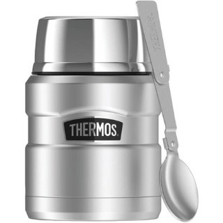$19.19Thermos SK3000STTRI4 Stainless King Vacuum-Insulated Food Jar With Folding Spoon, 16 oz, Silver @ Walmart