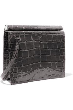 Gu_de | Edie croc-effect leather shoulder bag | NET-A-PORTER.COM