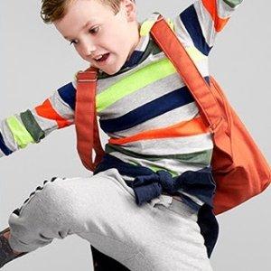 全棉长裤$5起 抓绒保暖裤$7折扣升级:Carter's官网 儿童裤子2.8折起热卖,女童厚实打底裤$9