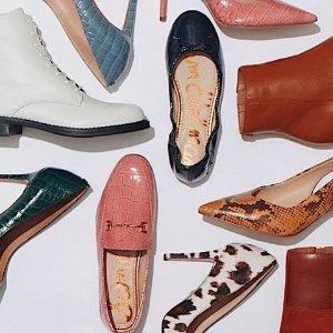 低至额外7折或每$100送$25礼卡Sam Edelman 美鞋热卖 穆勒鞋$54,带跟踝靴$63
