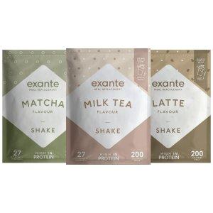 Exante 新口味代餐粉上线 抹茶口味、奶茶口味、拿铁口味促销