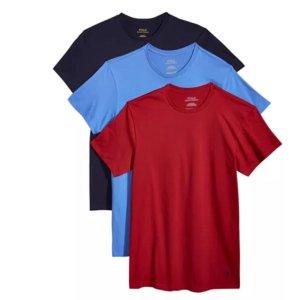 $6.3/件Polo Ralph Lauren 男款圆领纯棉T恤3件装