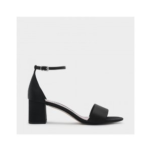 Black Ankle Strap Sandals | CHARLES & KEITH US