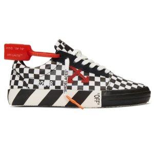 $295 性价比高Off-White 男士格纹帆布鞋热卖