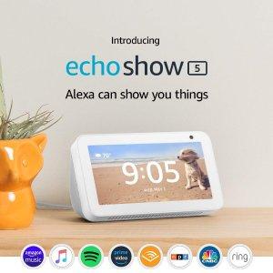 立减$40Echo Show 5 自带 Alexa 的智能显示器 双色可选
