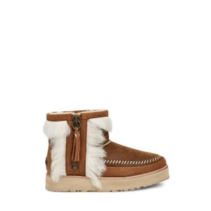 UGG Australia棕色毛茸朋克靴