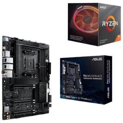 AMD RYZEN 7 3800X CPU + ASUS AMD AM4 PRO WS X570-ACE ATX Workstation MB
