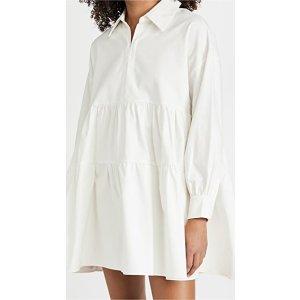 Cotton Poplin迷你衬衣裙