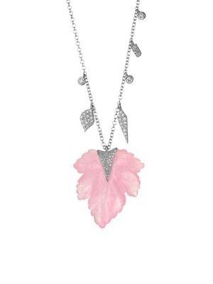 叶子钻石项链