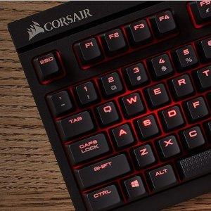 现价£69.07(原价£86.04)Corsair Gaming STRAFE Cherry MX 红轴 机械键盘