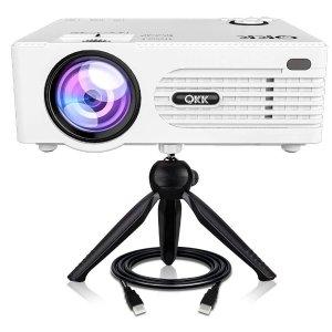 $129(原价$159)QKK 1080P投影仪 4200流明,最大支持176寸