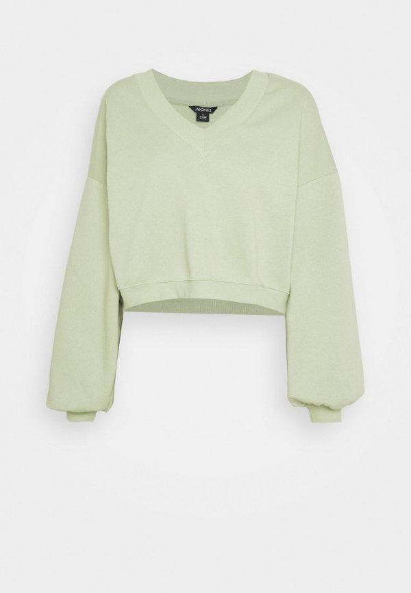 清新绿卫衣