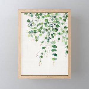 Society6Eucalyptus Watercolor Framed Mini Art Print by mellyterpening