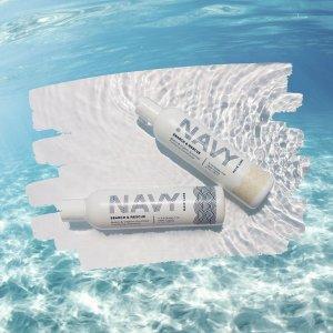无门槛享8折Navy Haircare 洗发护发热卖 收洗护3件套、清洁排毒发膜